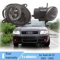 2 шт. туман светильник s для Audi A6 C5 2001 2002 2003 2004 2005 спереди Галогенные Противотуманные фары противотуманные лампы в сборе передние фары светиль...