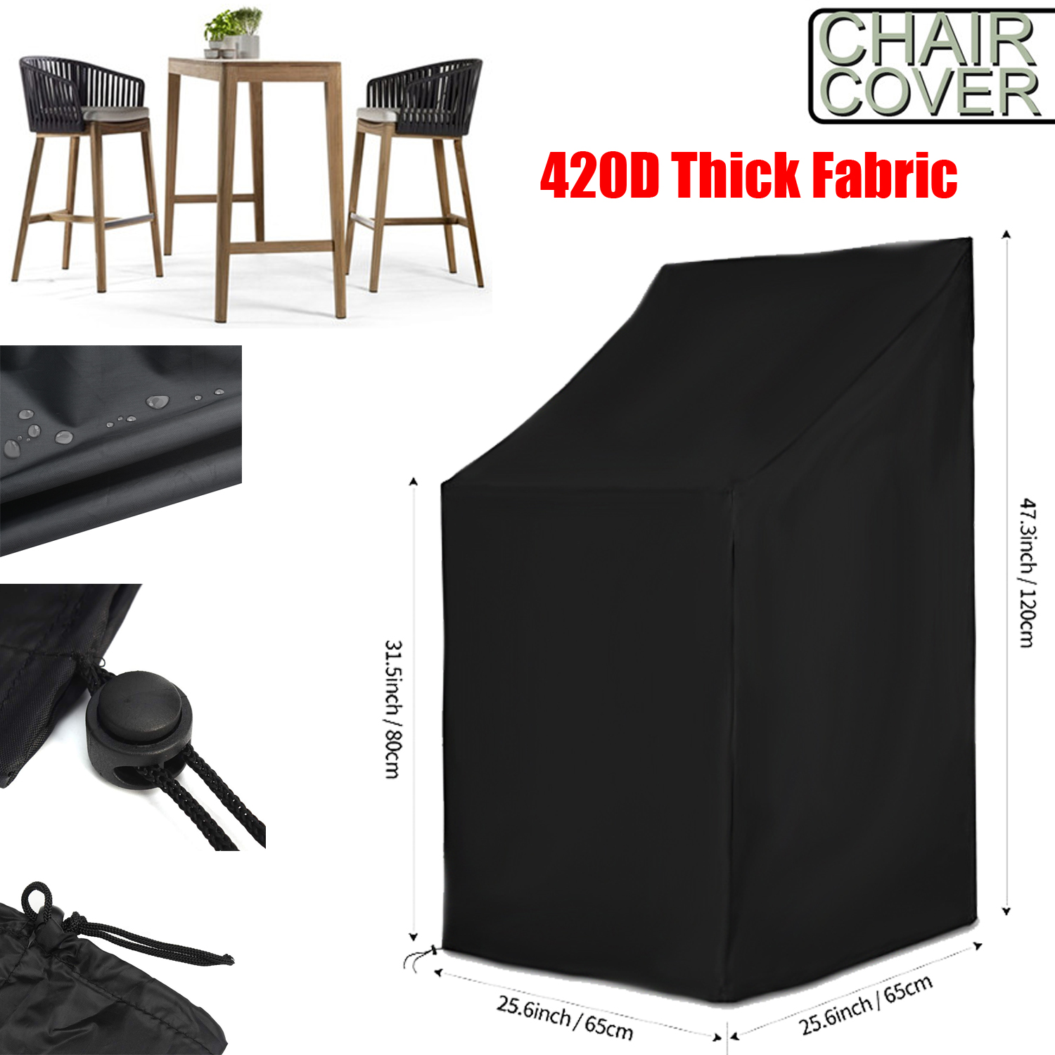 Furniture Chair Cover Waterproof Outdoor Garden Beach High Back Patio Single Chair Covers High Quality Furniture Protection All Purpose Covers Aliexpress