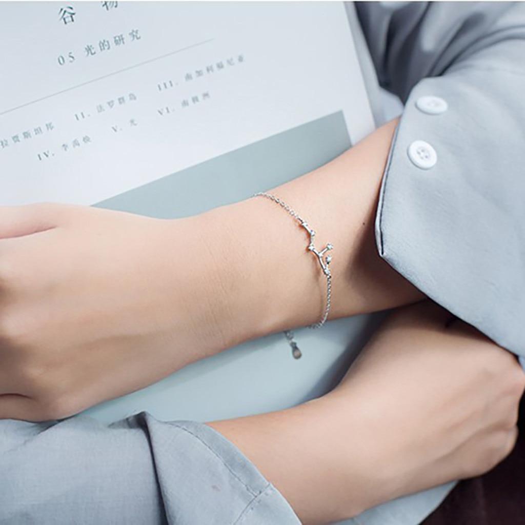 Женский браслет с цепочкой, 24 стиля, вечерние браслеты с созвездиями, свадебные украшения