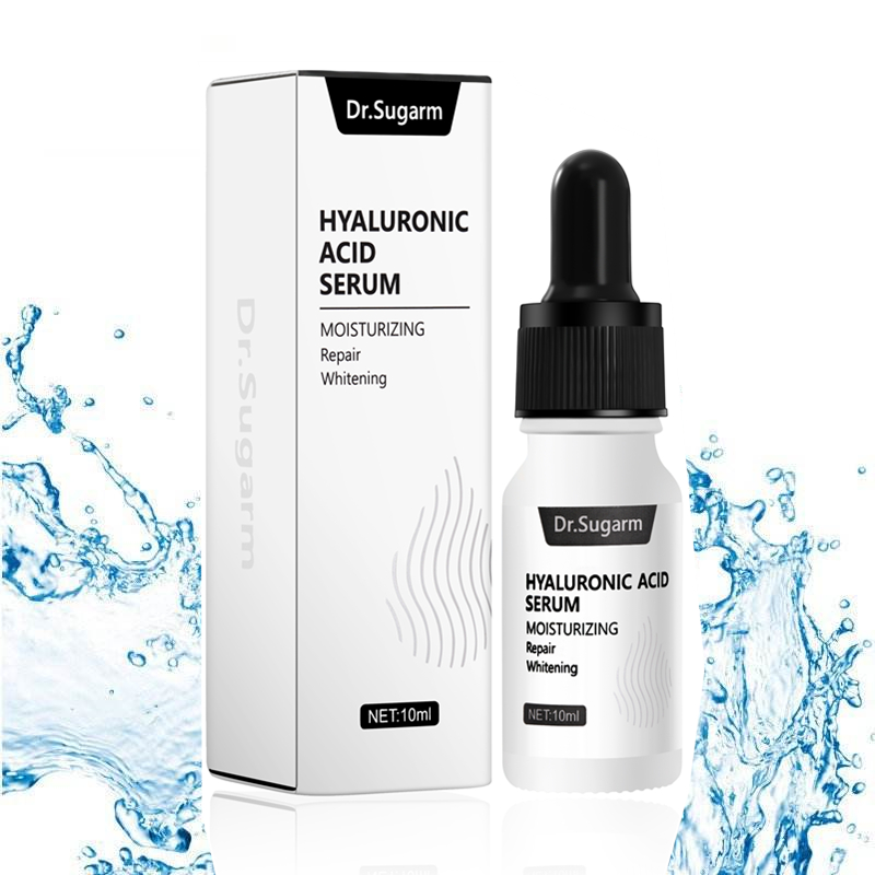 Dr.Sugarm Hyaluronic Acid Face Serum Moisturizing Whitening Facial Essence Face Cream Repair AntiAging Lifting Firming Skin Care