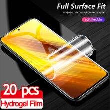 Película, pocco m3 סרט הידרוג ל רך סרטים עבור pocofone x3 NFC x 3 3x mi pocox3 מגן מסך מגן pococ x3 לא זכוכית