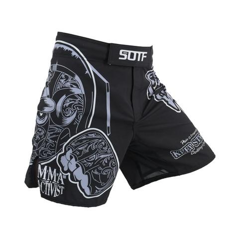 Cabeça de Cobra Sotf Geometria Tecnologia Fitness Respirável Boxing Shorts Tigre Muay Thai Kickboxing Luta Calças Sanda Mma Mod. 313369