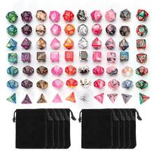 7Pcs Dice Set Polyhedrale Dnd Gemengde Kleur Dobbelstenen Voor Rpg Dungeons And Dragons Role Playing Game Board Game Dice set + Opbergtas(China)