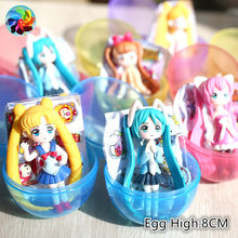 цена на 6PCS Cartoon Sailor Moons Action Figures Janpanese Girl Tsukino Usagin Hatsune Moon Power Resins Model Anime Kid Gift Toys