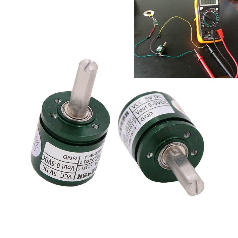 DC 0 5V Salão Sensor de Ângulo de contato Não Industrial-360 Graus de Rotação Sensor de deslocamento Angular