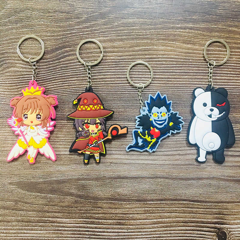 1 Pcs Cardcaptor Sakura Kematian Anime Gantungan Kunci PVC Gambar Gantungan Kunci Lucu Mainan Kunci Gantungan Kunci Hadiah Ulang Tahun Unisex Baru