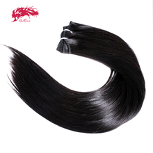 1Pc Ali Queen Hair Straight Raw Virgin Human Hair Bundle Unproccessed Human Remy Hair Weave for Women Natural Color Double Drawn