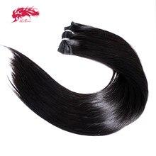 1pc ali rainha cabelo reto virgem cru pacote de cabelo humano unproccessed remy tecer cabelo humano para as mulheres cor natural duplo desenhado