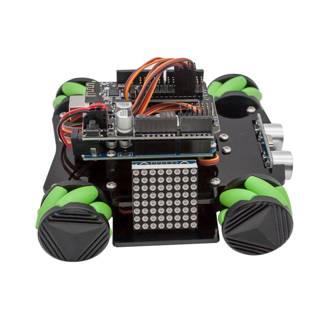 DIY Obstacle Avoidance Smart Programmable Robot Car Educational Learning Kit With Mecanum Wheels For Arduino  - Set D