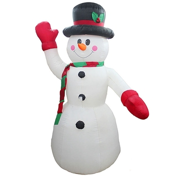 2.4M LED Air Inflatable Snowman with Blower Garden Outdoor Hotels Layout Christmas Decor Figure Kids Classic Toys US Plug