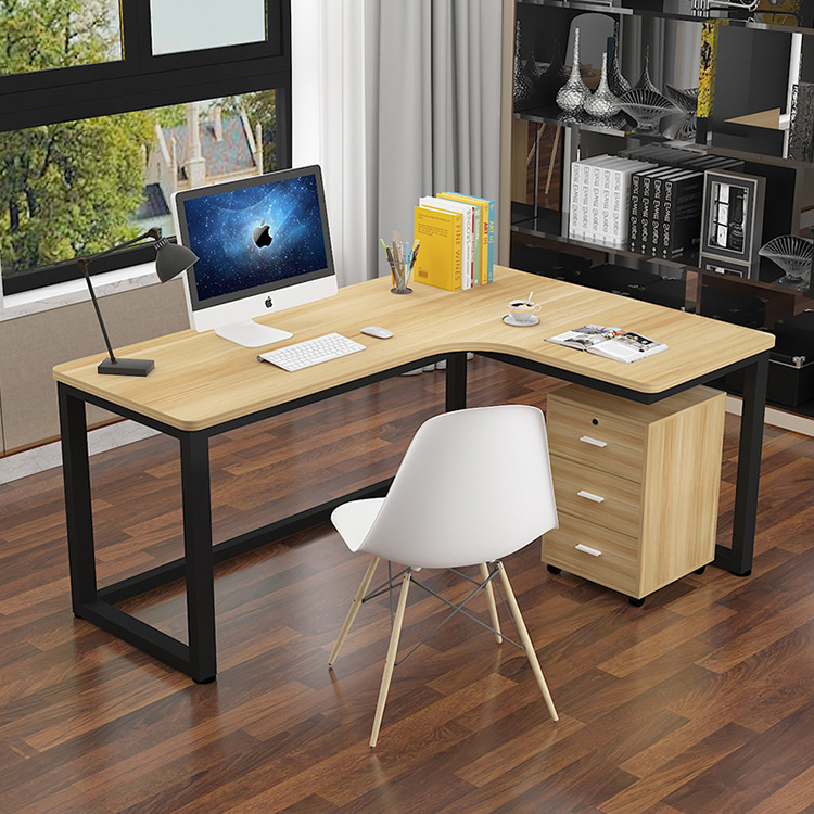 Simple Corner Computer Office Desk Chair Combination Household Simplicity Staff Desk Single Person Library Learning Desk
