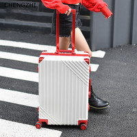 CHENGZHI20242629Inch Luxury Aluminum Frame High Quality Rolling Luggage Spinner Men Business Suitcase Wheels Women Travel Bag