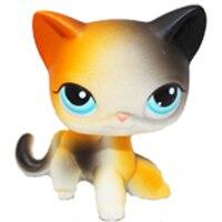Лпс стоячки кошки Игрушки для кошек lps, редкие подставки, маленькие короткие волосы, котенок, розовый#2291, серый#5, черный#994,, коллекция фигурок для питомцев - Цвет: 106