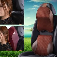 Car Neck Pillow 3D Memory Foam Auto Headrest Head Restraint Adjustable Breathable Travel Cushion Support Holder Seat G6KC|Neck Pillow|   -
