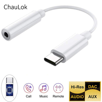 Type-C To 3.5mm Headphone Jack Adapter DAC USB C To 3.5mm Aux Converter For Google Pixel 2 3 4 XL Huawei Xiaomi Oneplus Samsung