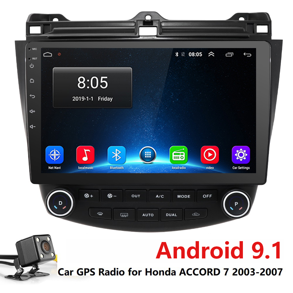 10,1 zoll Android 9.1 Auto GPS Navigation Radio Stereo-Player Für <font><b>2003</b></font> 2004 2005 2006 <font><b>2007</b></font> <font><b>Honda</b></font> <font><b>Accord</b></font> 7 Kopf einheit multimedia image