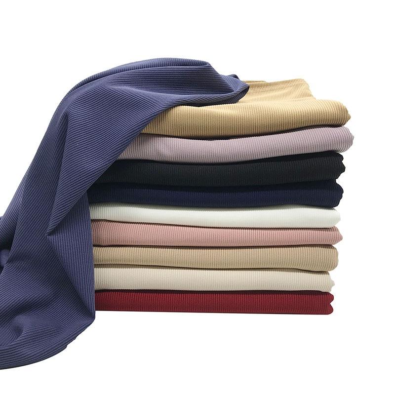 2020 New Ribbed Jersey Scarf Hijab Winter Women Muslim Stretchy Hijabs Soild Cotton Headscarf For Islamic Foulard Femme Musulman