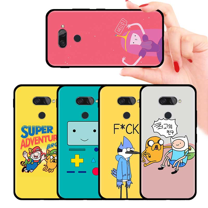 Adventure Time Cute Cartoon Fundas Case For LG K40 K40s K41s K50s K51s K61 G6 G7 G8 Thinq Q51 Q60 Q61 Q70 Soft TPU Cover Couqe