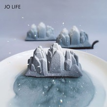 JO LIFE Silicone Mousse Mold Mountain Iceburg Cake Decoration Tool 3D Pastry Dessert Baking Mould