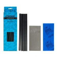 Xcman esqui snowboard ptex gotejamento vela base reparação adesivo ptex kit/5 pces ptex/raspador de metal/lixar esponja