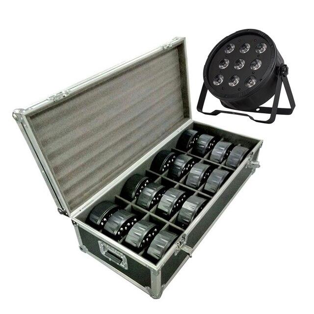 Luz LED RGBW 4 en 1 de 9X12W para escenario, luz de vuelo con 16 piezas LED, luz de escenario, DMX, LED Par de luces de fiesta