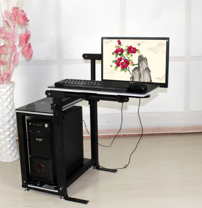 Mobile Lifting Rotary Seamless Bedside Computer Table Lazy Desktop Machine On Computer Desk