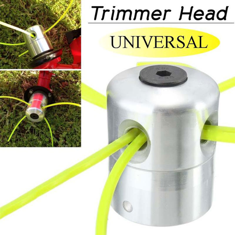 Updated Trimmer Head Playing Straw Outdoor Grass Brushcutter Silver Cylindrical Aluminum Garden Tools Coil Chain