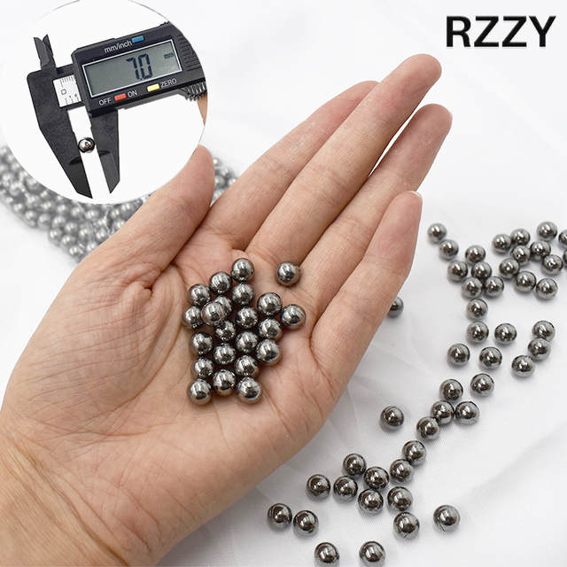 50PCS/100PCS 7mm Steel Balls Outdoor Pocket Hunting Slingshot  Pinball Stainless Shooting Accessories Sports Equipment 1