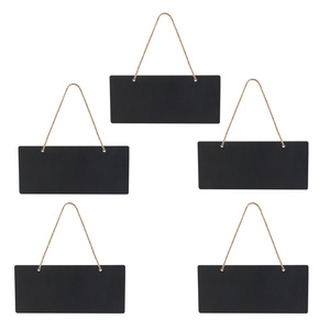 5pcs Mini Rectangle Chalkboards Double Sided Black Board for Message Board Signs