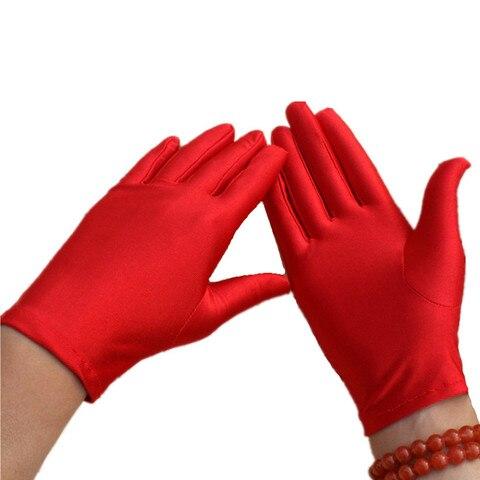 1 Pair High Elasticity Spandex Gloves White/Black/Red/Grey/Purple/ Unisex Short Gloves Sunscreen Etiquette Dance Jewelery Glove Pakistan