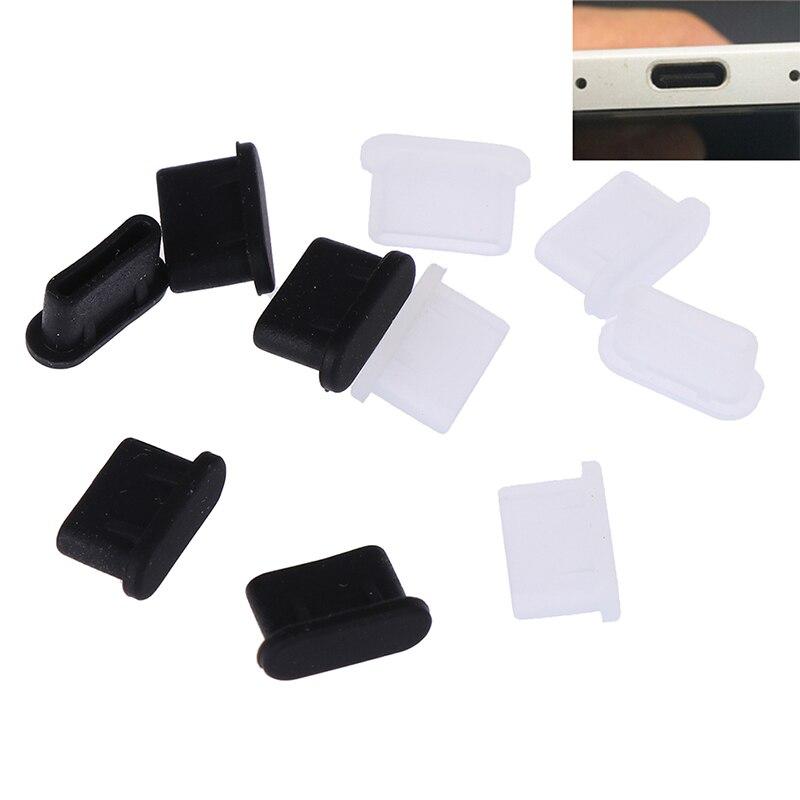 5 stücke Staubdicht Abdeckung Cap Jack Ladegerät Stecker USB Typ-C Port Anti-staub Stecker Für Handy
