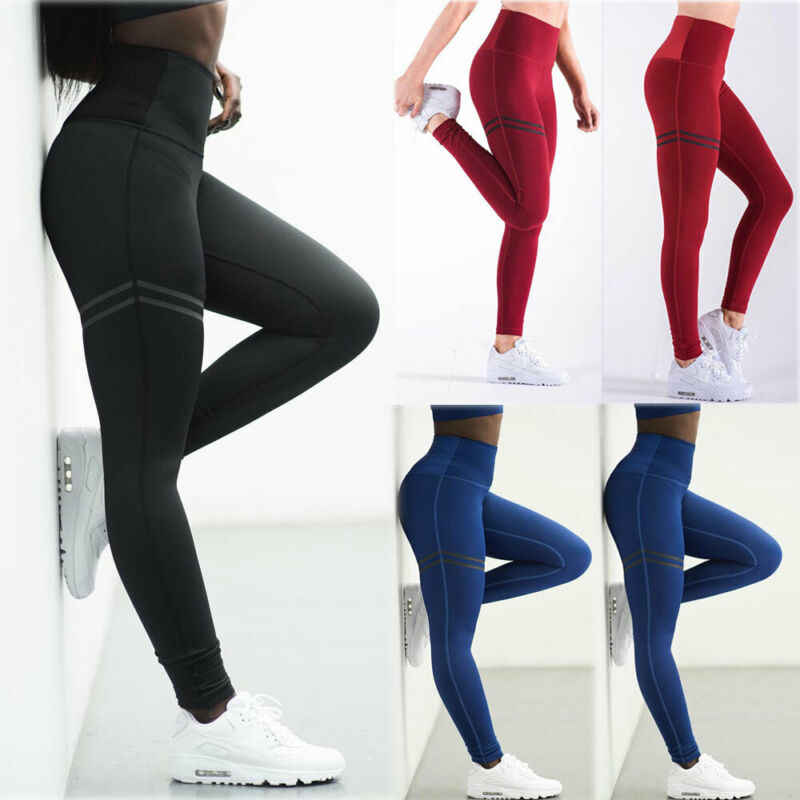 Womens Sport Fitness Potlood Stretch Gym Yoga Fitness Oefening Leggings Skinny Running Gym Hoge Taille Jogging Broek Broek