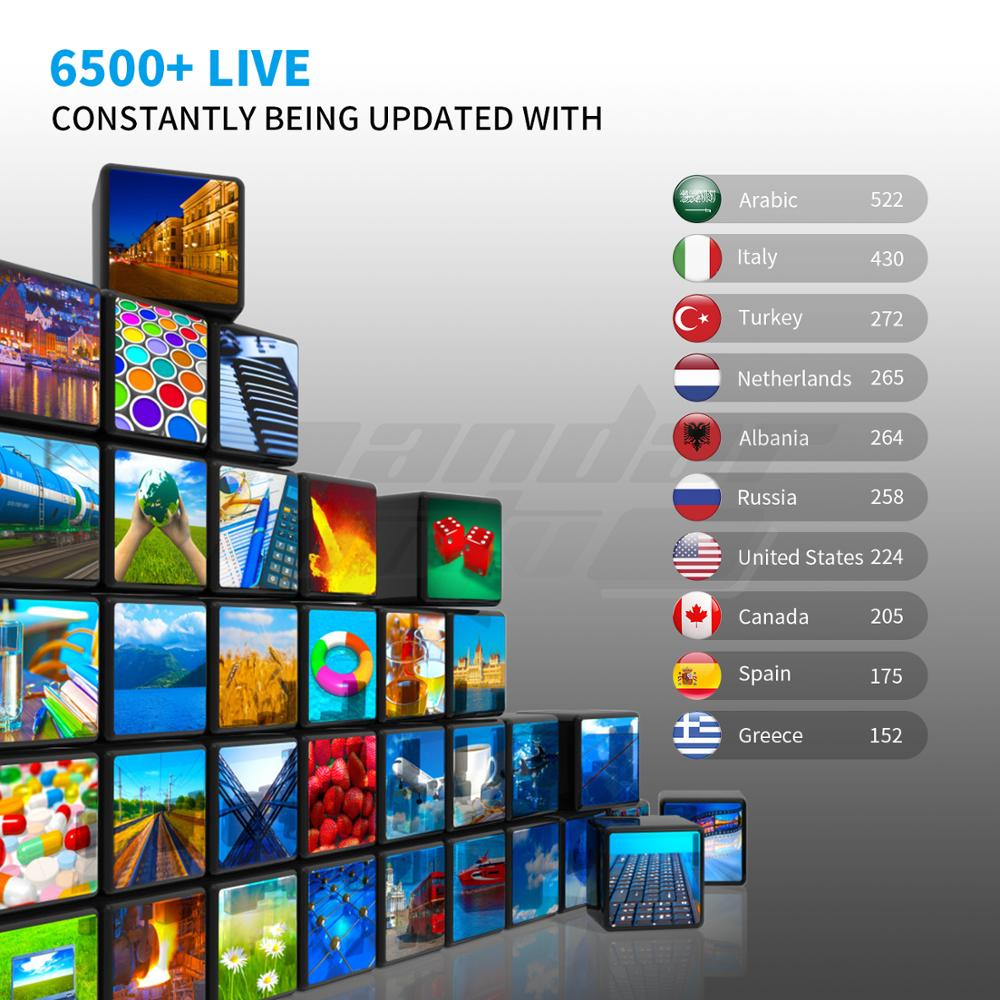 1 Year USA Canadian Latin African Europe M3U Channels List Arabic Italy UK Best 4K Android Set Top Box Indian IPTV Subscription