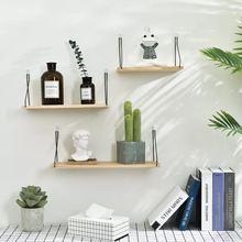 Nordic Wooden Wall Shelf Wood Shelf Living Room Decoration Organizer Storage Storage