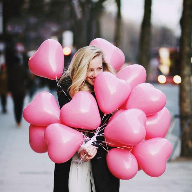 100pcs 12inch 2.2g Romantic Love Heart White Latex Balloon Inflatable Air Balls Wedding Birthday Party Decoration Helium Balloons