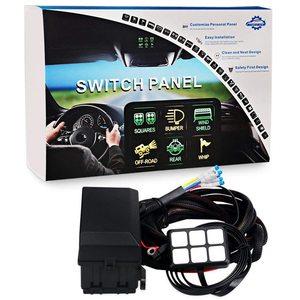 Image 2 - 6 갱 스위치 패널 전자 릴레이 시스템 회로 제어 상자 방수 퓨즈 릴레이 상자 자동차 자동 배선 하네스 어셈블리
