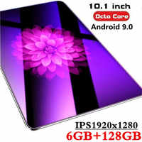 10.1 pouces tablette PC 3G/4G Android 9.0 Octa Core Super tablettes Ram 6G ram + 128G rom WiFi GPS 10 tablette IPS 1920*1280 double SIM GPS