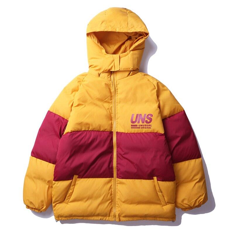 2019 hommes hiver épais à capuche Parkas vestes Hip Hop coupe-vent Streetwear unisexe Long manteau rembourré chaud Oversize outwear
