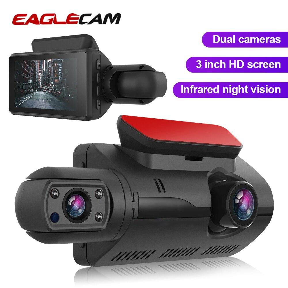 Автомобильный видеорегистратор, 2 камеры, объектив NT96220, чип FHD 3,0 дюймов, видеорегистратор, видеорегистратор с инфракрасным g датчиком|Видеорегистраторы|   | АлиЭкспресс
