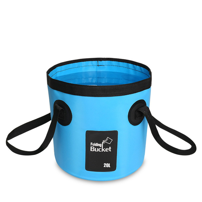 12L 20L Waterproof Water Bags Fishing Folding Bucket Portable Bucket Water Container Storage Carrier Bag   WJ122810