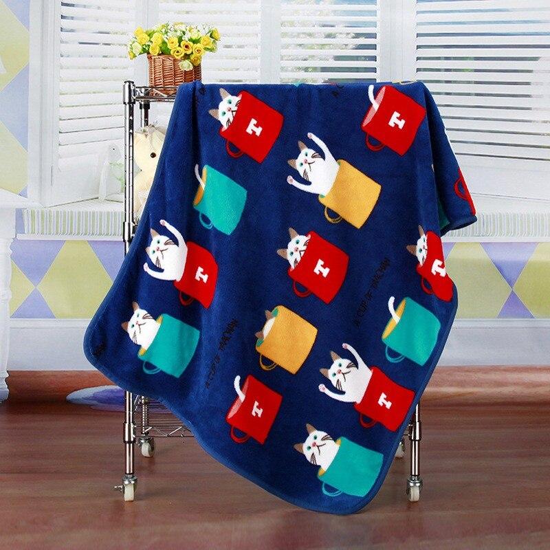 Детское одеяло из хлопка, супер мягкое детское одеяло с рисунком, мягкое, удобное, дышащее, Коралловое, бархатное, воздухопроницаемое одеяло - Цвет: L