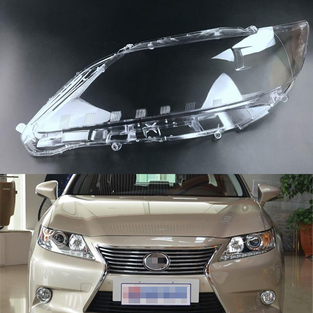 Car Headlight Lens For Lexus ES250 ES300 ES350 2013 2014 Headlamp Cover Car  Replacement   Auto Shell