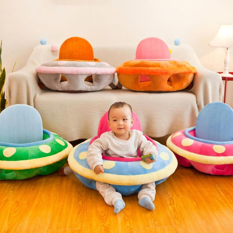 Baby Sofa Cover Skin For Infant Seat Feeding Chair Case Cute Kids Learning To Sit Washable Soft Plush Baby Sofa Cover No Cotton