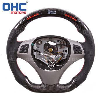 LED Display Steering Wheel compatible for BMW E92 3 Series LED Racing Steering Wheel + Carbon Fiber