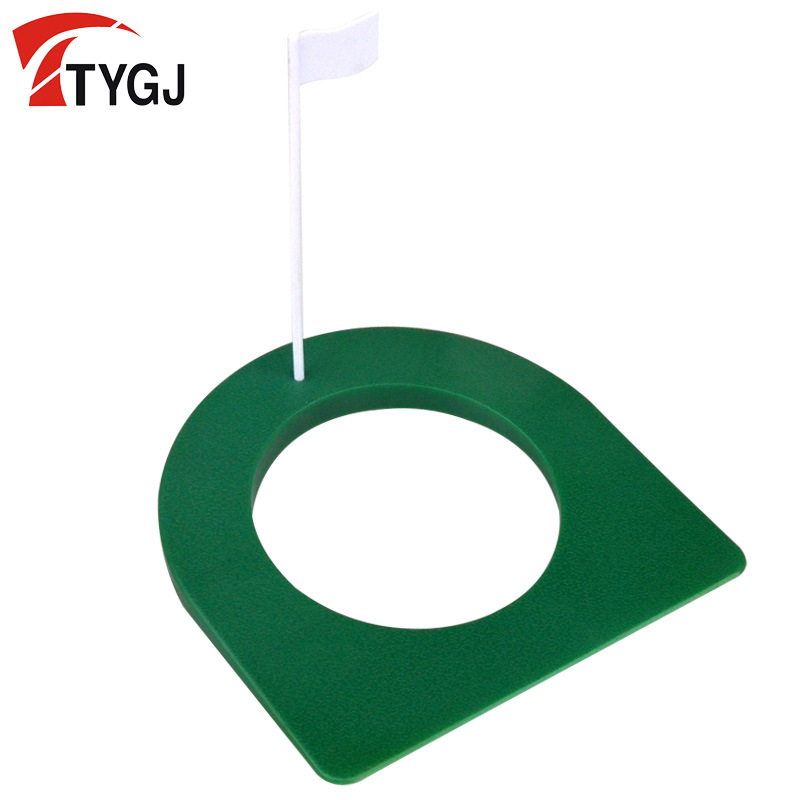Ttygj Golf Indoor Putter Practice Device Push Rod Plate Hole With Flag Green Hole Saucers New Style