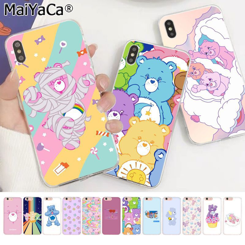 MaiYaCa Nette cartoon <font><b>Care</b></font> <font><b>Bears</b></font> Luxus Telefon Abdeckung für Apple iphone 11 pro 8 7 66S Plus X XS MAX 5S SE XR Coque Shell image