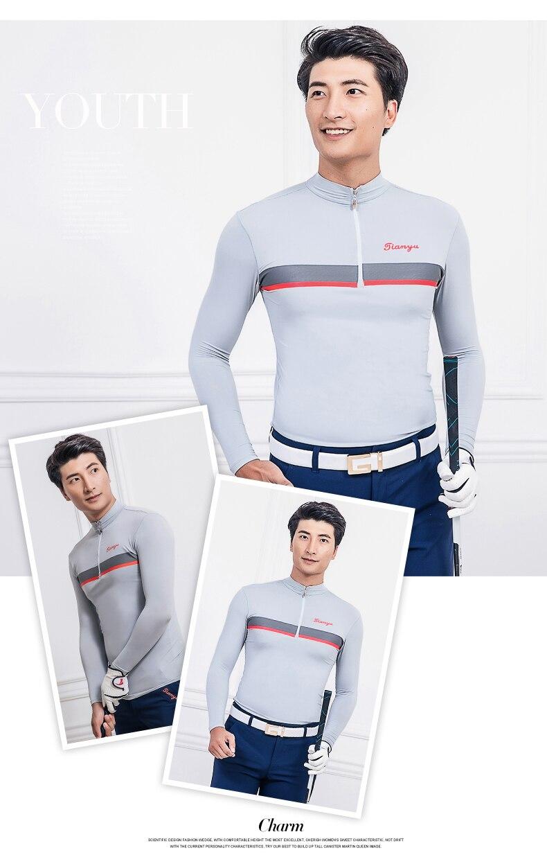 Camisa de Golfe Masculino Protetor Solar Uv