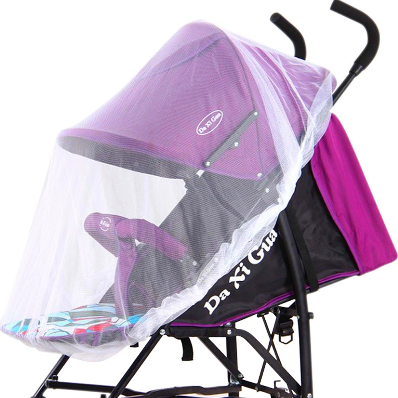 Infants Baby Stroller Pushchair Mosquito Insect Safe Mesh Buggy Crib Netting Cart Mosquito Pushchair Full Covers