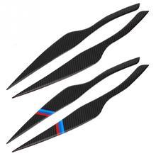 цена на Carbon Fiber Decor Headlight Eyebrows Eyelids Trim Cover For BMW E90 318i 320i 325i 2005-2012 Accessories Car Light Stickers