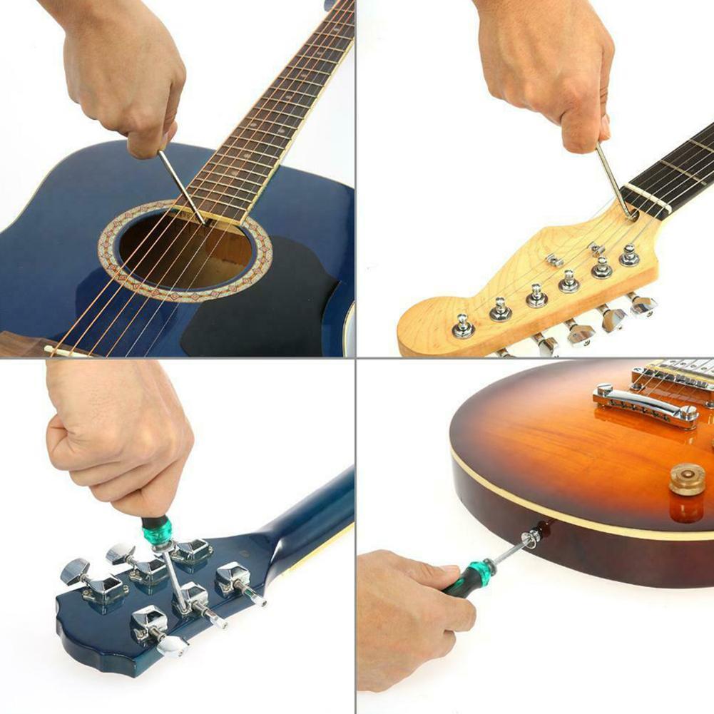 Herramienta de reparaci/ón de guitarra 22 unids//set kit completo de mantenimiento de guitarra de acero inoxidable para guitarra bajo mandolina accesorio de configuraci/ón de guitarra